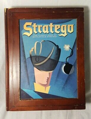 Stratego Vintage Game Collection Bookshelf Wooden Box Soldier Front