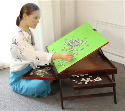 jigsaw puzzle table storage tilting folding table drawer 1000 pcs mat BSPTT