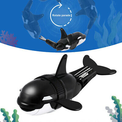Children Kids Baby Swimming Bath Toys Cute Black Whales Watering Showering TB