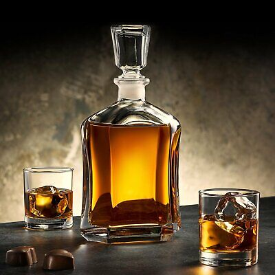 Bormioli Rocco Capitol Whiskey Decanter Table Carafe Bourbon Wine Sherry Drink