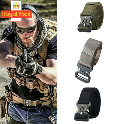 Nylon Canvas Breathable Military Tactical Men Waist Belt With Plastic Buckle UK