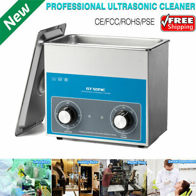3L Professional Ultrasonic Cleaner Ultra Sonic Wave Cleaning Tank Heater Timer