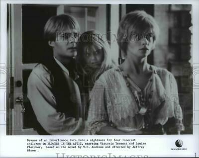 1987 Press Photo Victoria Tennant Louise Fletcher in Flowers in the Attic