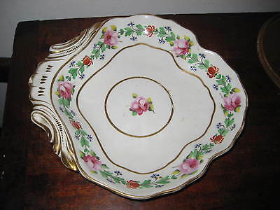 Early 19Th Century Crown Derby Hand Painted Flowers Bowl Serving Dish