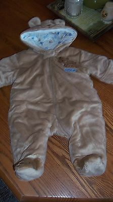 Carter's Teddy Bear Footed Coat 0-3 Month's Very Warm