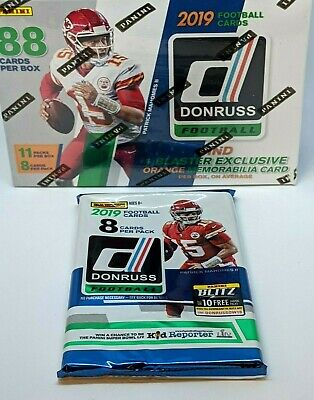 2019 Panini Donruss NFL FOOTBALL Factory Sealed Retail (1) Pack - 8 Cards L@@K