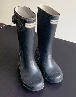 Authentic Hunter Original Navy Kids Wellington Boots Rubber Rain Wellies *NIB*