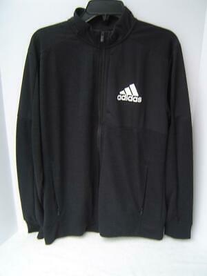New Mens Adidas Black Bomber Zip Up Jacket Size 2Xl  New With Tags