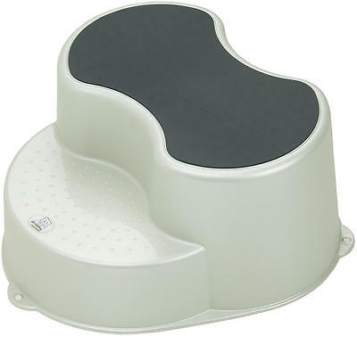 Rotho Top Children Stool 2 Stage Step Stool - Pearl White Cream New