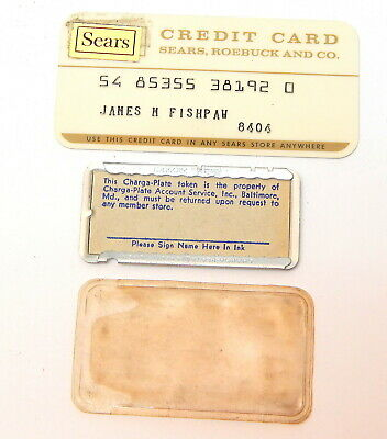 1S Vintage Sears & Charga-Plate Baltimore Credit Card Token Farrington Products