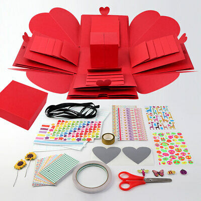 Surprise Love DIY Explosion Box Valentine's Day Gift Box Scrapbook Photo Album