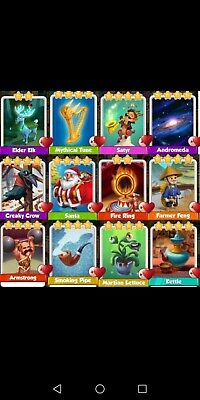 Coin Master 12 Mixed Rare cards + GIFT(2 cards of your choice😉) for $3.99