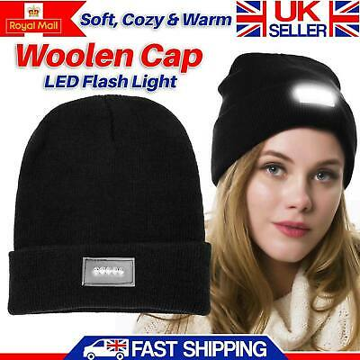 LED Beanie Hat With 5 LED Torch Light One Size Outdoors Camping Joggers Cap Gift