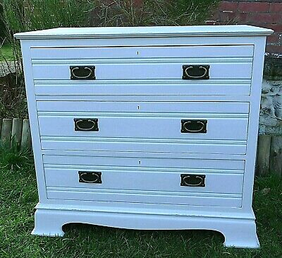 Edwardian Three Drawer Painted Chest