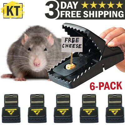 6-PACK Reusable MOUSE TRAPS Rat Trap Rodent Snap Trap Mice Trap Catcher Killer