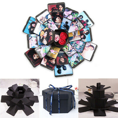 Geometric Explosion Box Multilayer Surprise DIY Photo Album For Birthday Gift