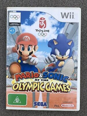 Mario and Sonic at the Olympic Games - Nintendo Wii with Instruction Manual