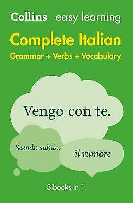 Easy Learning Italian Complete Grammar, Verbs and Vocabulary (3 books in 1), Col