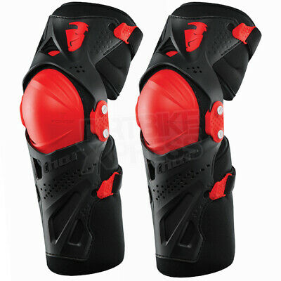 Thor Kids Force Xp Knee Guards - Black Red