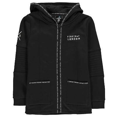 Firetrap OTH Hoodie Youngster Boys Hoody Hooded Top Full Length Sleeve