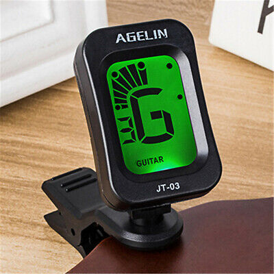 Lcd Clip On Chromatic Acoustic Electric Guitar Bass Ukulele Banjo Tuner Uk