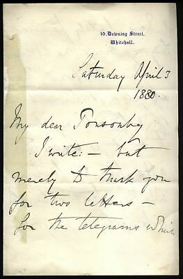 1880 10 DOWNING ST General Elections, DISRAELI'S Private Secretary M. Corry