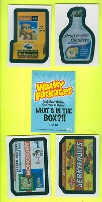 5 of 10 2007 Topps WACKY PACKAGES All-New Series 6 WHAT'S IN THE BOX