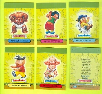 6 of 10 2007 Topps Garbage Pail Kids All-New Series 7 JPOP-UPS CARDS