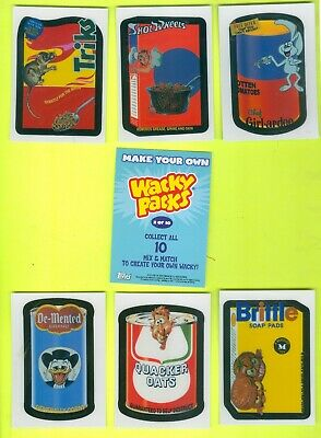 7 of 10 ALL DIFFERENT 2007 Topps WACKY PACKAGES All-New Series 6 MAKE YOUR OWN