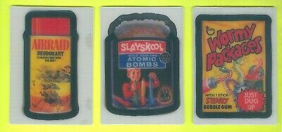 Lot of 3 ALL DIFFERENT 2008 Topps WACKY PACKAGES Flashback Series 1 MOTION Cards
