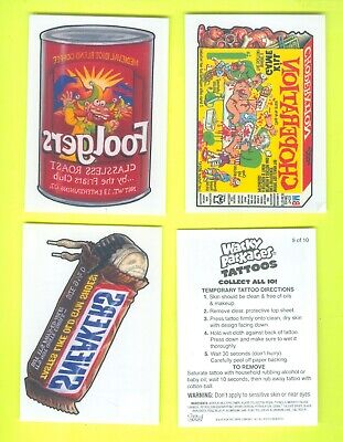Lot of 4 2004 Topps WACKY PACKAGES All-New Series 1 TATTOOS