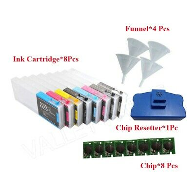 Empty Refillable ink Cartridge for Epson Stylus Pro 4880 + FREE Chip Resetter