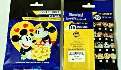 Disney Couples MYSTERY PIN PACK Disney Park Pins - SEALED NEW