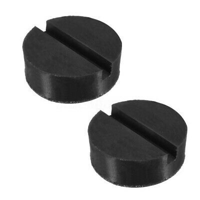 2pcs Universal Trolley Floor Jack Disk Pad Adapter Rubber For Pinch Weld JackPad