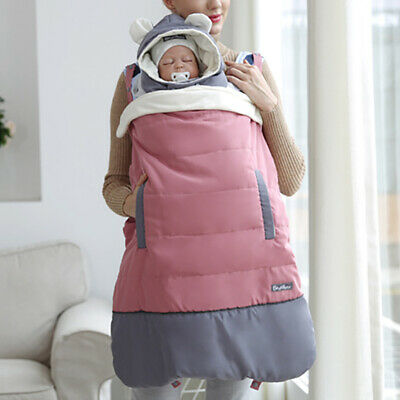 Warm Baby Carrier Cloak Multi-Function Kids Sling Winter Cover Windproof Cloak