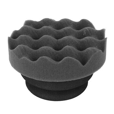 Wave Type Car Waxing Sponge Pad Multifunction Cleaning Waxing with Handle Black