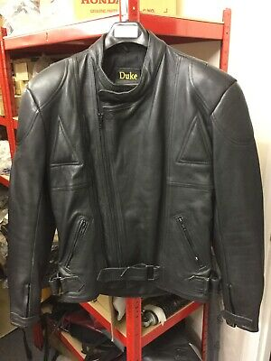 Classic Duke Black Leather Men's Jacket NOS Size 40