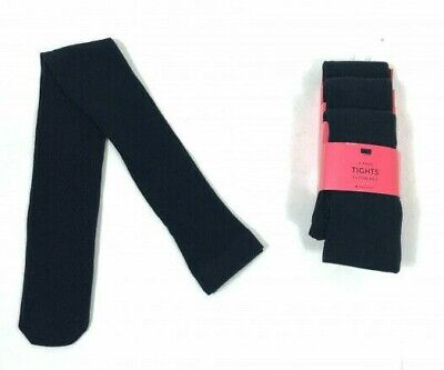 M*S Girls SCHOOL TIGHTS Black Cotton Rich Pk of 3 4,5,6,7,8,9,10,11,13,14 NEW