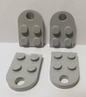 Lego 5 New Light Bluish Gray Plate Modified 2 x 2 Wheels Holder WidePieces