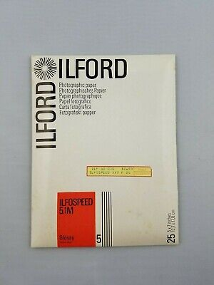 Pearl Surface for commercial advertising Ilford Ilfospeed RC Deluxe Resin Coated Black /& White Enlarging Paper press industrial 5x7-100 Sheets and display work 44M Grade 2