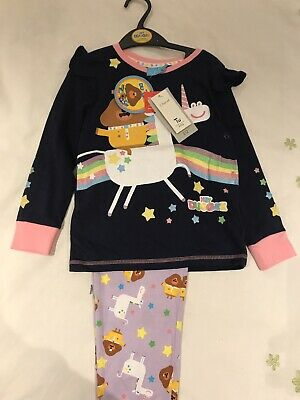 Girls 5-6 Years Hey Duggee Pyjamas New TU Navy Blue Unicorn