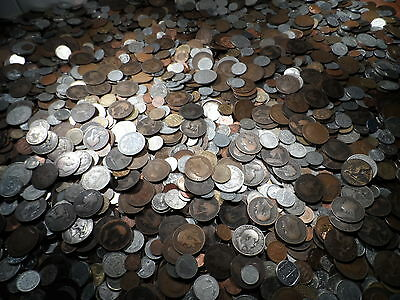 100 British and World Coins 100 big bulk lot