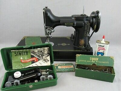 SINGER FEATHERWEIGHT 221 Sewing Machine Case Attachments ManualMfg. 1953