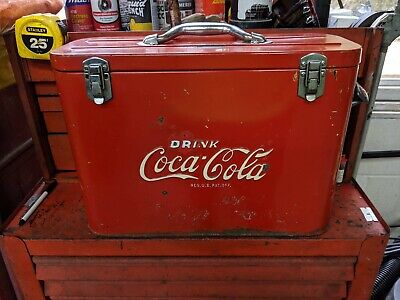 Vintage Rare Airline Coke Cooler