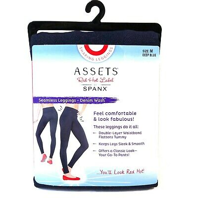 Assets Red Hot Label Spanx Denim Blue Seamless Leggings Small Large S L