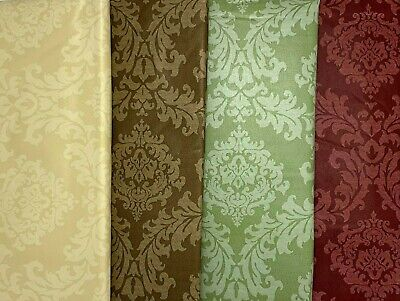 All Occasion Damask Pattern Cloth Backed Vinyl Tablecloth. Round Square Oblong