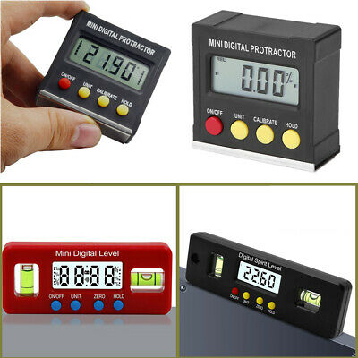 Portable Mini Digital Inclinometer Level Box Protractor Angle Finder Bevel Gauge