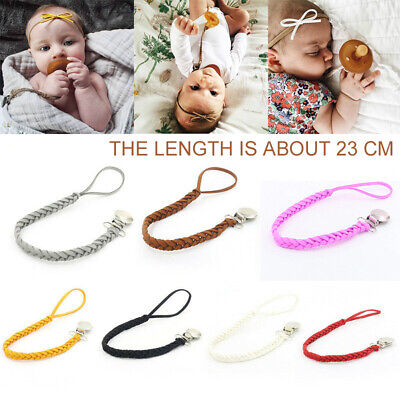 Bow Headband Y Baby Infant Braided Pacifier Clips Holder Appease Chain Strap
