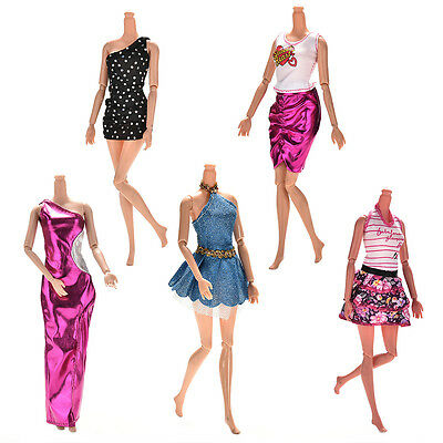 Lot 5X Handmade Wedding Dress Party Gown Clothes Outfits For  Doll Gift UK YA