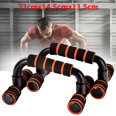 1 Pair Push Up Bars Stand Foam Handles for Chest Press Pull Gym Fitness Exercise
